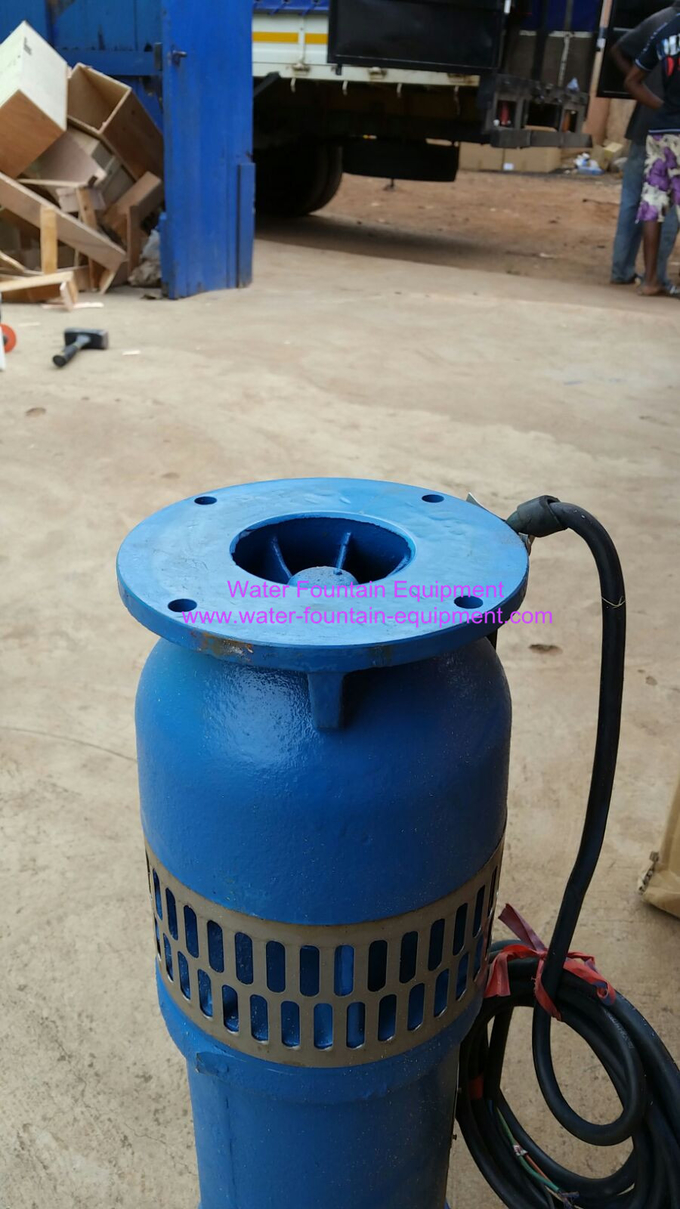 Flange Connect Submersible Fountain Pumps Iron Casting 380v And 220v Three Phase