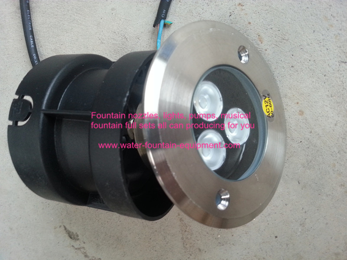 3w 6w 9w Rgb Underwater Fountain Lights Led Submersible Lights With Embeded Fitting