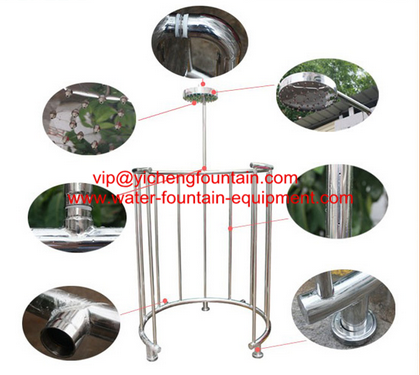 Stainless Steel 304  Vicky Showers Swimming Pool Fittings Customized Size