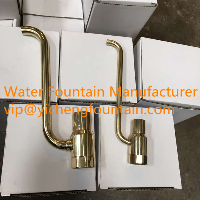 Brass / Stainless Steel Foam Water Fountain Nozzles Bubble Forming 1/2 Inches - 3 Inches