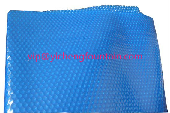 Blue Swimming Pool Control System Inflatable Bubble PE Solar Cover 300 Mic - 500 Mic