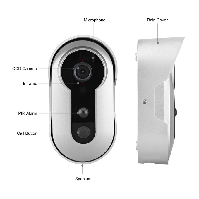 Android IOS Wireless Intercom Video Door Phone WiFi Video Door Bell support 2 Way Talk