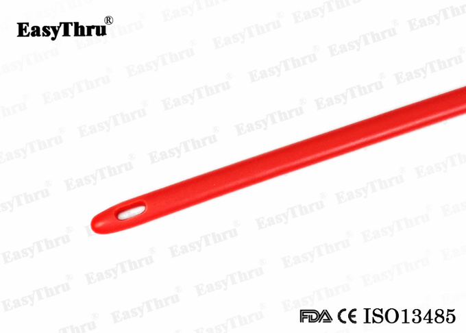 Sterilized Red Latex Urethral Catheter Silicone Coated Size Fr6 to Fr30