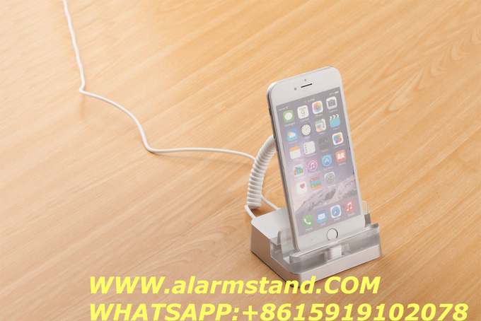 COMER smart phone alarm anti-theft cable lock holders for mobile retail stores