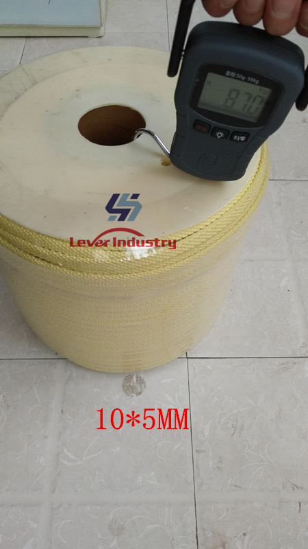 Kevlar Aramid Rope used on Glass Tempering Furnace 5.5 x 5.5mm