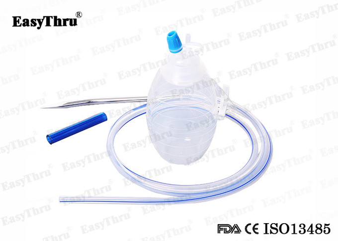 Disposable Medical Silicone Close Wound Drainage System With Trocar