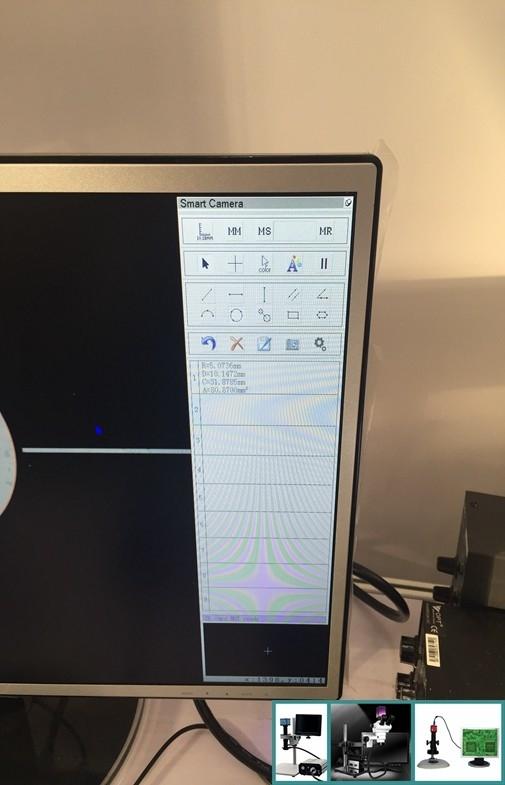 China Schwarzer Mikroskop-Nocken der HD-Maß-Kamera-hohen Auflösung mit Stromversorgung Lieferant