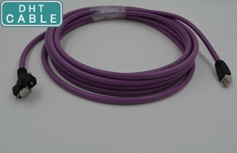China Alto doblez robusto del cable de Ethernet de la flexión IGUS Cat-5 para la cámara de GEV, con los oídos del tornillo, 5 metros proveedor