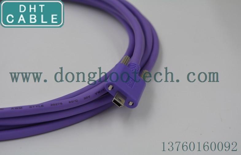 China La señal arriba flexible Trasmission del escudo USB2.0 extendió el cable del usb para el equipo automático proveedor