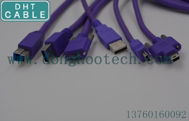 중국 USB2.0 USB3.0 자료 산업 신청을 위한 높은 코드 방패 사진기 USB 케이블 협력 업체