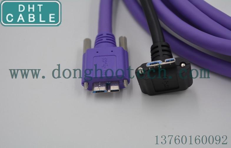 Κίνα USB 3,0 ψαρευμένο καλώδιοUSB Β καλός βαθμός βιομηχανίας σημάτων 90 βαθμού που προστατεύεται καλά για το σύστημα κινήσεων προμηθευτής