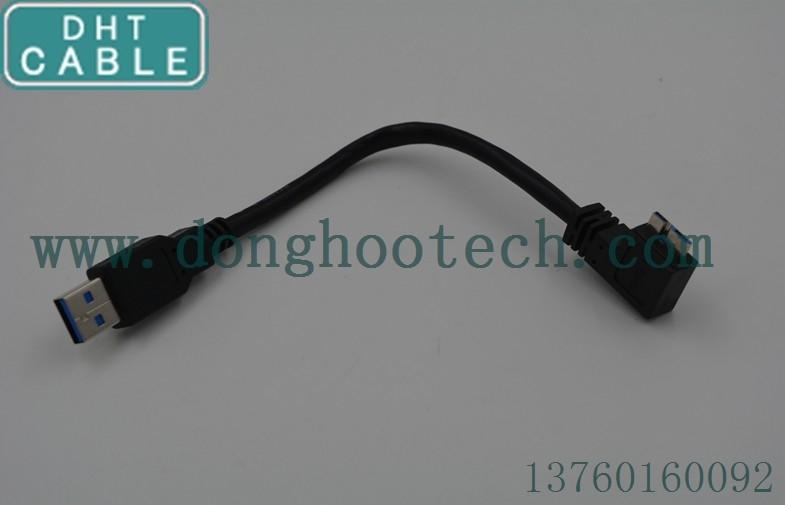 Κίνα Κοντό καλώδιο usb3 0, καλώδιο καμερών USB με το μικροϋπολογιστή Β σωστής γωνίας προμηθευτής