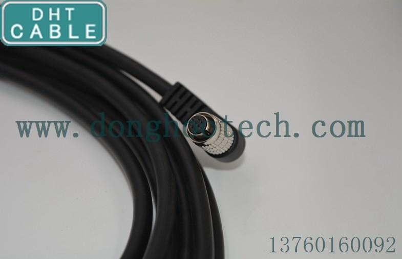 Κίνα Γκρίζες GIGE CCD I/O HR25-7TP-8P βούλωμα και υποδοχή Angulated 8pin καλωδίων ώθησης καμερών σημείου προμηθευτής