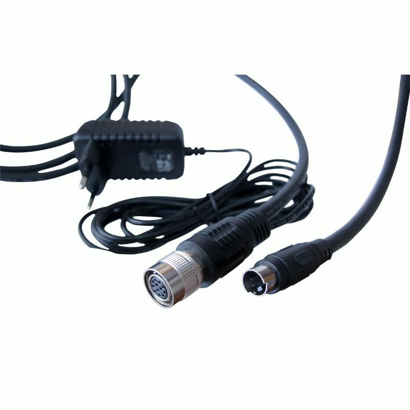 China Adaptador industrial 12pin Hr10A-10p-12s (73) 2.5meter de la fuente de alimentación de la cámara de Vision proveedor