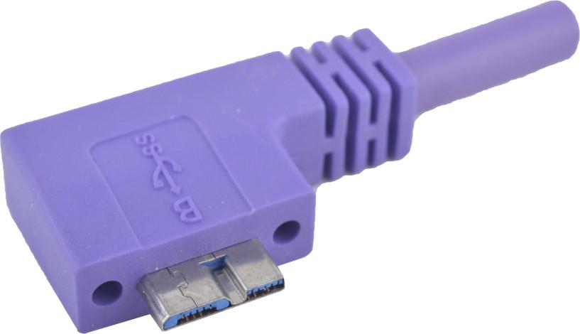 Κίνα USB 3,0 ένα αρσενικό στο μικροϋπολογιστή Β που αφέθηκε ψάρεψε το καλώδιο 90 βαθμού με τις βίδες κλειδώματος για τη κάμερα και τη συσκευή 15fts 5M USB προμηθευτής