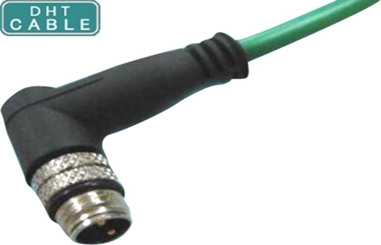 Κίνα IP67/IP68 3P 4P 5P 8 αδιάβροχη υψηλή ταχύτητα καλωδίων καλωδίων/αισθητήρων σωστής γωνίας καρφιτσών M8 προμηθευτής