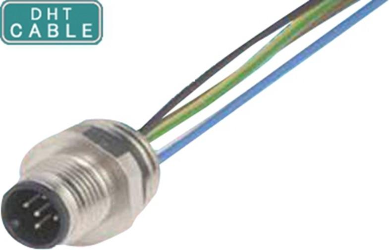 China Cabos impermeáveis moldando protegidos do sensor do conector do Pin M12 5 para o Signage exterior de Digitas fornecedor