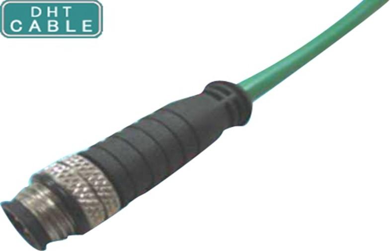 China O ângulo reto e direito M12 Waterproof o conjunto de cabo com o conector circular do sinal do parafuso do reparo fornecedor