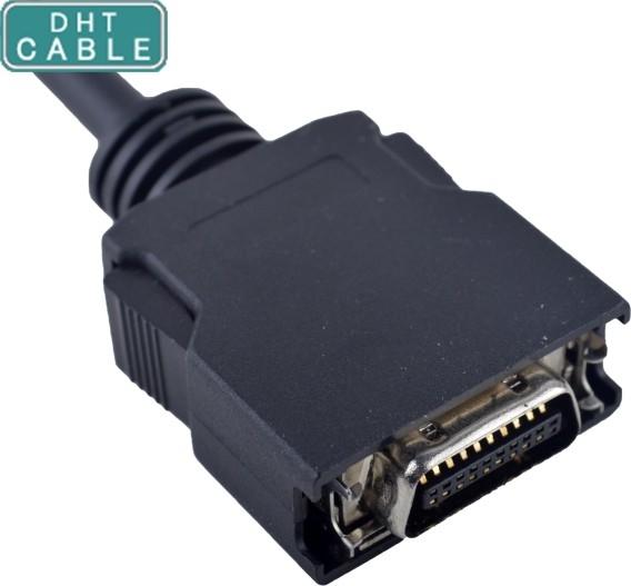 중국 까만 HPCN 20Pin 남성 플라스틱 회의 스카시는 OEM/ODM를 가진 두 배 방패에 케이블을 답니다 협력 업체