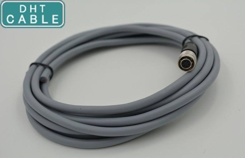 중국 산업 사진기 고압선 입력/출력은 5m OEM에 HR10A-7P-6S 히로세 연결관에 케이블을 답니다 협력 업체