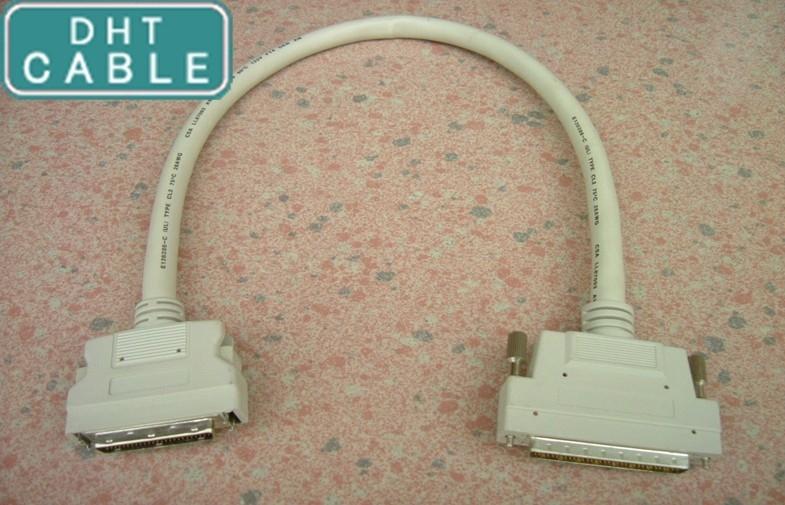 China Computer-kundenspezifisches Kabel SCSI-Kabel klinkenartig Verschluss-Formteil-Art 6ft schrauben Lieferant