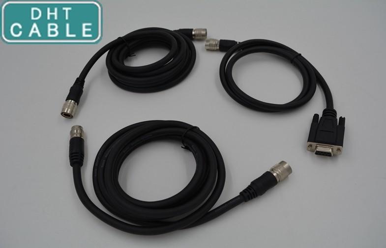 China Vorlagen-ultra Flex-Hirose-Kamera-Kabel voll abgeschirmt für analoge Kamera der industriellen Bildverarbeitung Lieferant