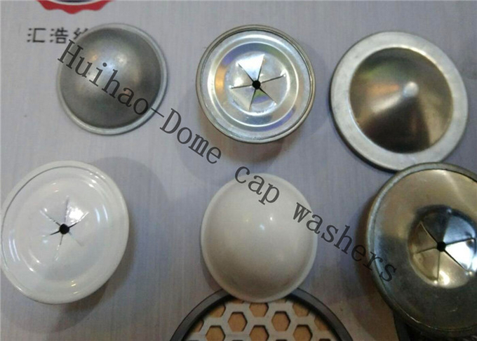 Custom Stainless Steel Self Locking Dome Cap Washer For Insualtion Pin 22mm Dia