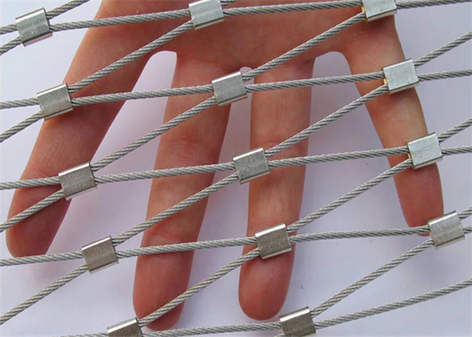 Flexible X-tend Ferruled Stainless Steel Wire Rope Mesh For Balcony Balustrade