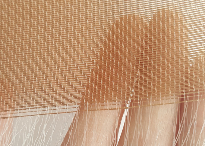 Copper Wire Material Glass Laminated Architectural Wire Mesh Is For Room Divider