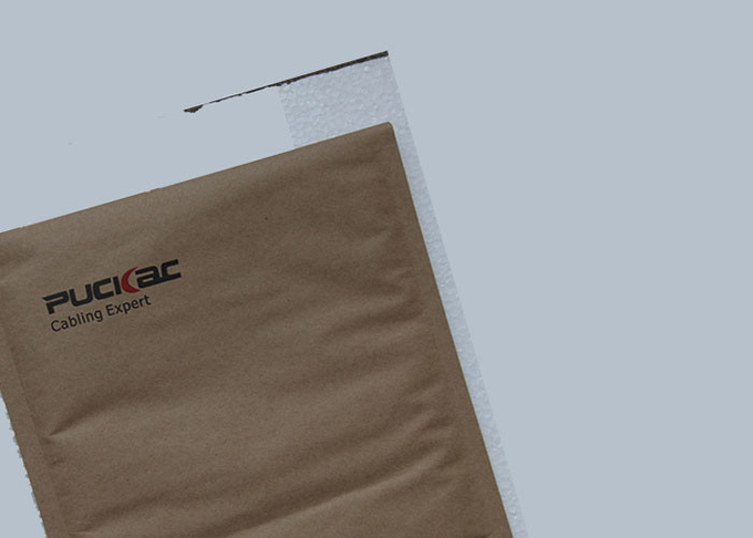 Self Sealing Kraft Paper Bubble Mailers Envelopes High Security For Packing