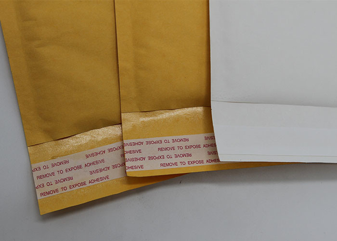 Padded Courier Kraft Paper Bubble Mailers 2 Sealing Sides Logo Printing Envelopes