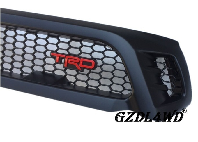 TRD Toyota Hilux Custom Grill Mesh , Custom Truck Grilles With Red TRD Lettering
