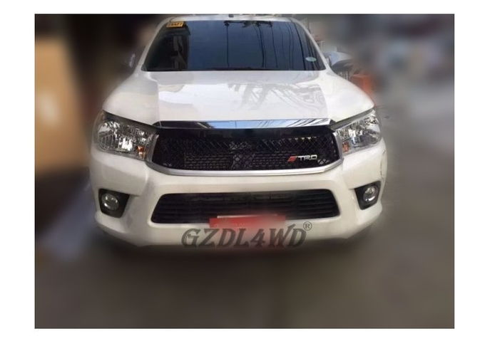 Hilux Revo Front Grill Mesh Guard Modified TRD Style 2015 2016