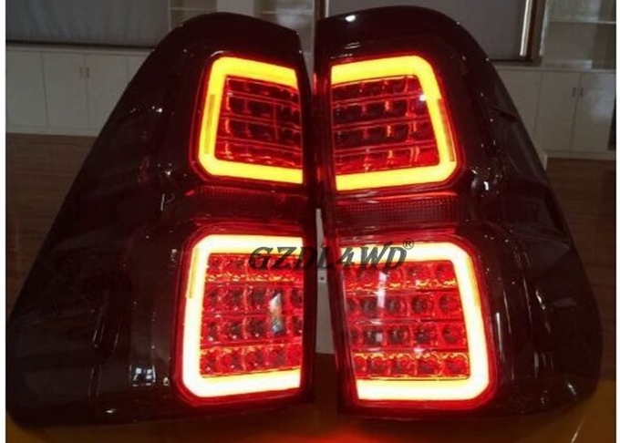 4x4 LED Smoked Black Tail Lights For Toyota Hilux Revo Pickup 2015 2016