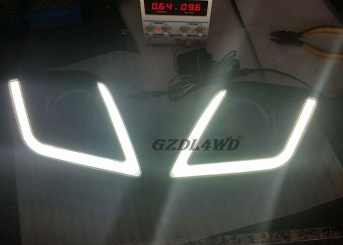 DRL LED Daytime Running Lights For Toyota Hilux Revo 2015 2016 Matte Black