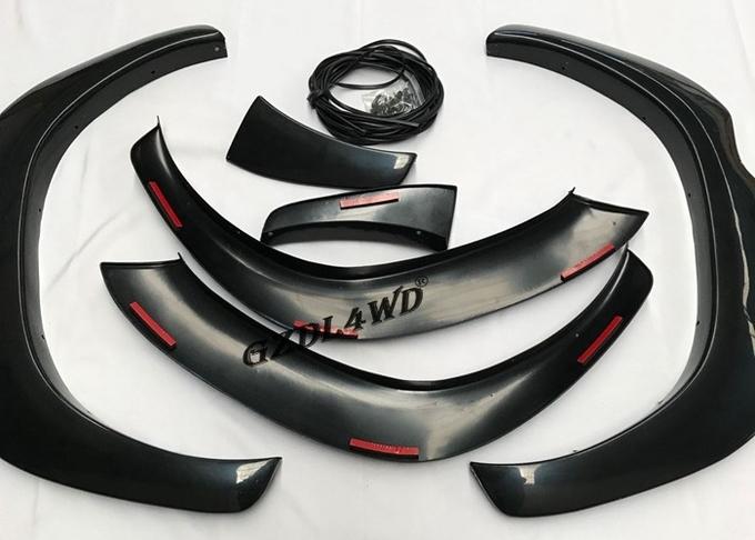 Smooth Black Wheel Arch Flares For Toyota Hilux Revo Original Style / Wheel Fender Trim