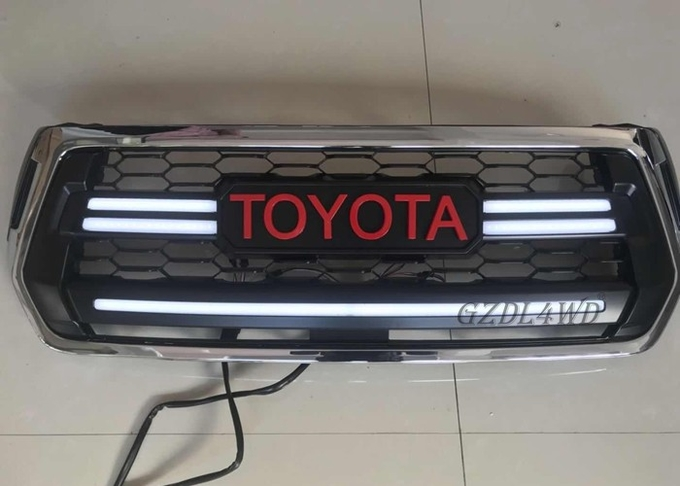Toyota Hilux Vigo Champ Front Grill Mesh With LED / 4x4 Auto Parts