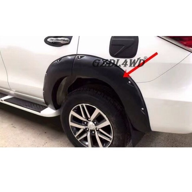 4x4 Toyota Fortuner 2016 Matte Black Wheel Arch Flares Pocket Style OEM