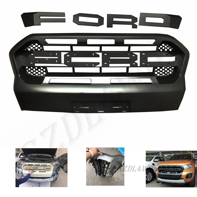 Better Airflow Ford Letter Front Grill Mesh For Ford Ranger Wildtrack 2018 2019