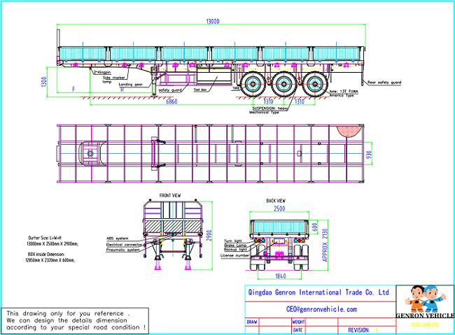 Genron large cargo trailer factory bulk production-10